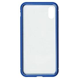 ナチュラルデザイン NATURAL design iPhoneXS/X専用背面繊維ガラス×アルミバンパーケース Blue iP18_58-MBP03