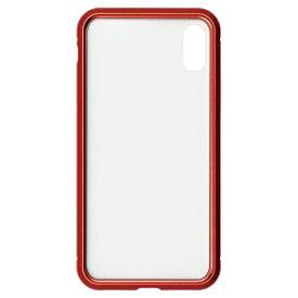 ナチュラルデザイン NATURAL design iPhoneXS/X専用背面繊維ガラス×アルミバンパーケース Red iP18_58-MBP04