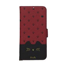 ナチュラルデザイン NATURAL design AQUOS sense2専用手帳型ケース Minette Red Black AQS2-MIN08