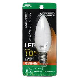 ヤザワ YAZAWA C32シャンデリア形LED E17 L色 WH 10W形相当 LDC1LG32E17WH