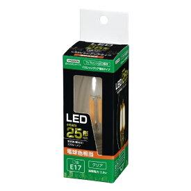 ヤザワ YAZAWA C32シャンデリア形LED E17 L色 CL 25W形相当 LDC2LG32E17C