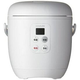 コイズミ KOIZUMI KSC-1513-W 炊飯器 ライスクッカーミニ ホワイト [1.5合 /マイコン][KSC1513W]