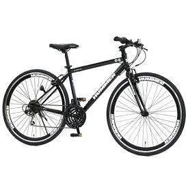 ハマー HUMMER 700×32C型 クロスバイク HUMMER CRB7018DR(ブラック/18段変速)63117-01【組立商品につき返品不可】 【代金引換配送不可】