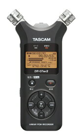 TASCAM タスカム DR-07MK2-VER2 リニアPCMレコーダー [ハイレゾ対応][録音機 ボイスレコーダー 小型 高音質 長時間]