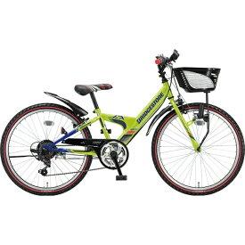 ブリヂストン BRIDGESTONE 24型 子供用自転車 エクスプレス ジュニア(ネオンライム&ブルー/6段変速)EXJ46【ダイナモランプモデル】【2019年モデル】【組立商品につき返品不可】 【代金引換配送不可】