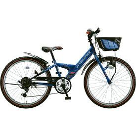 ブリヂストン BRIDGESTONE 24型 子供用自転車 エクスプレス ジュニア(ブルー&ブラック/6段変速)EXJ46T【点灯虫モデル】【2019年モデル】【組立商品につき返品不可】 【代金引換配送不可】