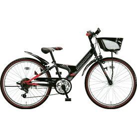 ブリヂストン BRIDGESTONE 24型 子供用自転車 エクスプレス ジュニア(ブラック&レッド/6段変速)EXJ46T【点灯虫モデル】【2019年モデル】【組立商品につき返品不可】 【代金引換配送不可】