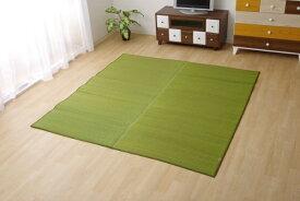 イケヒコ IKEHIKO 純国産 い草ラグカーペット 『Fソリッド』 グリーン