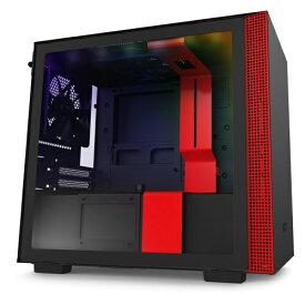 NZXT エヌゼットエックスティー 高いコストパフォーマンスとスマートな外観のインテリジェントPCケース 【Mini-ITX】 CA-H210I-BR ブラック/レッド