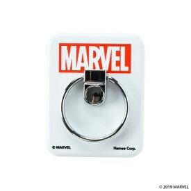 HAMEE ハミィ [各種スマートフォン対応]MARVEL/マーベル バンカーリング 661-910108 ロゴ/ホワイト