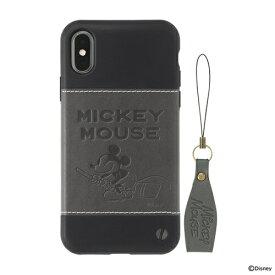HAMEE ハミィ [iPhone XS/X専用]ディズニーキャラクター/Zarf ソフトケース 276-894057 ミッキーマウス/ブラック