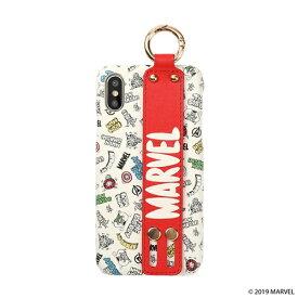 HAMEE ハミィ [iPhone XS/X専用]MARVEL/マーベル easty バンド付きハードケース 276-906835 ストリート/ホワイト