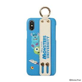 HAMEE ハミィ [iPhone XS/X専用]ディズニー/ピクサーキャラクター easty バンド付きハードケース 276-906934 モンスターズ・ユニバーシティ/ひっそり