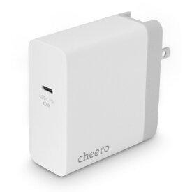 CHEERO チーロ cheero USB-C PD Charger 60W (White + Silver) CHE-325
