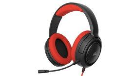 CORSAIR コルセア CA-9011198-AP PC/PS4/Nitendo Switch/Xbox One対応 ゲーミングヘッドセット HS35 STEREO レッド [φ3.5mmミニプラグ /両耳 /ヘッドバンドタイプ][CA9011198AP]