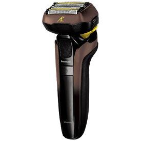 パナソニック Panasonic リニアシェーバーラムダッシュ5枚刃 ES-CLV7E-T 茶 [5枚刃 /国内・海外対応][電気シェーバー 男性 髭剃り ESCLV7ET]
