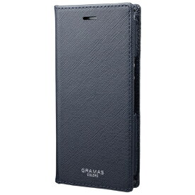 坂本ラヂヲ EURO Passione PU Leather Book Case for Xperia Ace CLC-64819NVY ネイビー