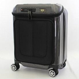 シフレ siffler USBポート付きスーツケース TRI2049-45CBK カーボンブラック 【メーカー直送・代金引換不可・時間指定・返品不可】