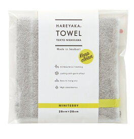 西川 NISHIKAWA 西川 今治ミニテリー (タオルハンカチ) はれやかタオル (25×25cm/シルバー/日本製 今治産) TT48703001SI シルバー