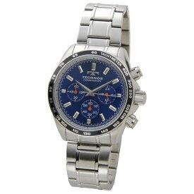 テクノス Technos メンズ腕時計 クロノグラフ タキメーター T4462SN ブルー×シルバー