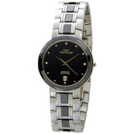 テクノス Technos メンズ腕時計 セラミック T9334TH ブラック×ゴールド