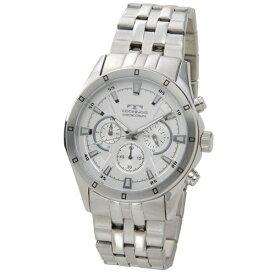 テクノス Technos メンズ腕時計 クロノグラフ T6456SS ホワイト