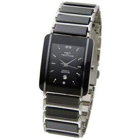 テクノス Technos メンズ腕時計 セラミック TSM903TB ブラック×シルバー