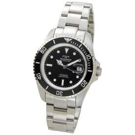 テクノス Technos メンズ腕時計 ダイバーズ TSM402SB ブラック