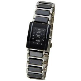 テクノス Technos レディース腕時計 セラミック TSL906TB ブラック×シルバー