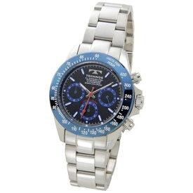 テクノス Technos メンズ腕時計 クロノグラフ TSM401SN ブルー