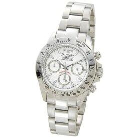テクノス Technos メンズ腕時計 クロノグラフ TSM401SW ホワイト