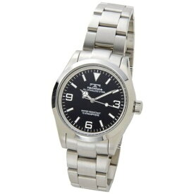 テクノス Technos メンズ腕時計 TSM208SB ブラック×シルバー