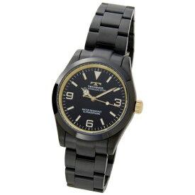 テクノス Technos メンズ腕時計 TSM208BG ブラック×ゴールド