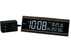 セイコー SEIKO 目覚まし時計 【シリーズC3】 茶木目模様 DL306B [デジタル /電波自動受信機能有]
