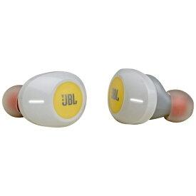 JBL ジェイビーエル 【ビックカメラグループオリジナル】フルワイヤレスイヤホン JBLT120TWSYEL イエロー [リモコン・マイク対応 /ワイヤレス(左右分離) /Bluetooth][JBLT120TWSYEL]【point_rb】