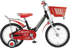 ブリヂストン BRIDGESTONE 16型 子供用自転車 エコキッズ スポーツ(ブラック&レッド/シングルシフト)EKS16【組立商品につき返品不可】 【代金引換配送不可】