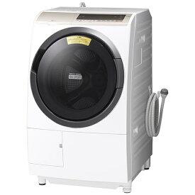 日立 HITACHI BD-SV110ER-W ドラム式洗濯乾燥機 ビッグドラム ホワイト [洗濯11.0kg /乾燥6.0kg /ヒーター乾燥(水冷・除湿タイプ) /右開き][洗濯機 11kg BDSV110ER]