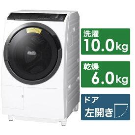 日立 HITACHI ドラム式洗濯乾燥機 BD-SG100EL-W ホワイト [洗濯10.0kg /乾燥6.0kg /ヒーター乾燥(水冷・除湿タイプ) /左開き][洗濯機 10kg BDSG100EL]