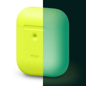 ELAGO エラゴ elago AIRPODS CASE for AirPods 2nd Generation Wireless Charging Case for AirPods 2nd Wireless (Neon Yellow)