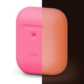 ELAGO エラゴ elago AIRPODS CASE for AirPods 2nd Generation Wireless Charging Case for AirPods 2nd Wireless (Neon Pink)