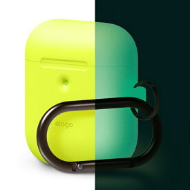 ELAGO エラゴ elago AIRPODS HANG CASE for AirPods 2nd Generation Wireless Charging Case for AirPods 2nd Wireless (Neon Yellow)