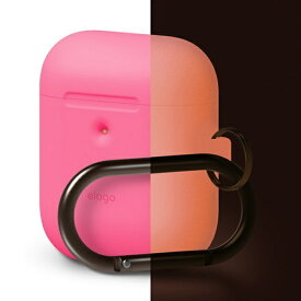 ELAGO エラゴ elago AIRPODS HANG CASE for AirPods 2nd Generation Wireless Charging Case for AirPods 2nd Wireless (Neon Pink)