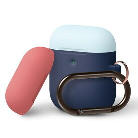 ELAGO エラゴ elago AIRPODS DUO HANG CASE for AirPods 2nd Generation Wireless Charging Case for AirPods 2nd Wireless (Jean Indigo 3)