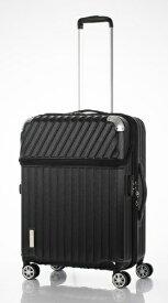 協和 スーツケース TRAVERIST(トラベリスト)MOMENT(モーメント) ブラックヘアラインエンボス 76-20295 [35L]