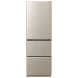 日立 HITACHI 《基本設置料金セット》R-V38KV-N 冷蔵庫 Vタイプ シャンパン [3ドア /右開きタイプ /375L][冷蔵庫 大型 RV38KV]【zero_emi】