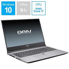 マウスコンピュータ MouseComputer DAIV ノートパソコン BC-DAIVN15G165-192 [15.6型 /intel Core i7 /HDD:1TB /SSD:512GB /メモリ:16GB /2019年8月モデル][15.6インチ 新品 windows10]