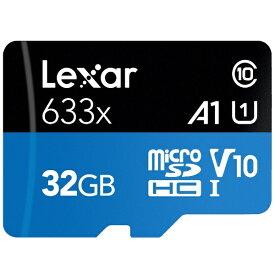 レキサー Lexar microSDHCカード UHS-I High-Performance 633x LSDMI32GBB1JP633A [32GB /Class10][LSDMI32GBB1JP633A]