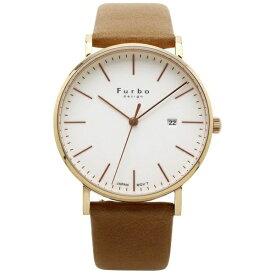 フルボ FURBO メンズ腕時計 F02 F02-PIVLB アイボリーxライトブラウン