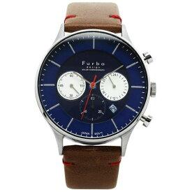 フルボ FURBO メンズ腕時計 ソーラー充電式 クロノグラフ F751 F751-SNVBR ネイビーxブラウン