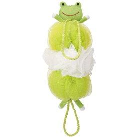 マーナ MARNA 背中も洗えるシャボンボール アニマルミックス カエル グリーン